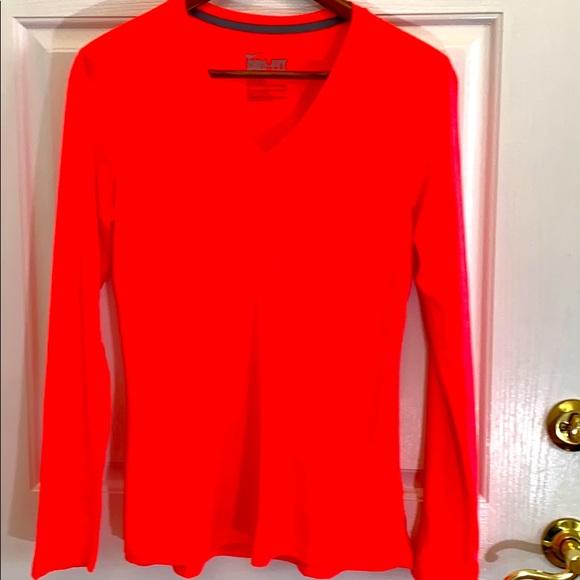 Nike Dri Fit Bright Orange Shirt. Size M